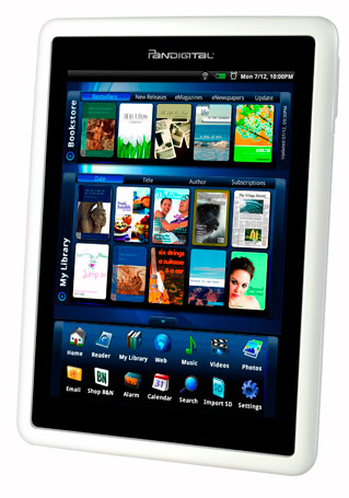 Pandigital Intros 7-inch Novel e-reader