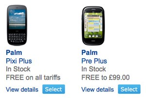Palm Pre Plus and Pixi Plus Now on O2 UK