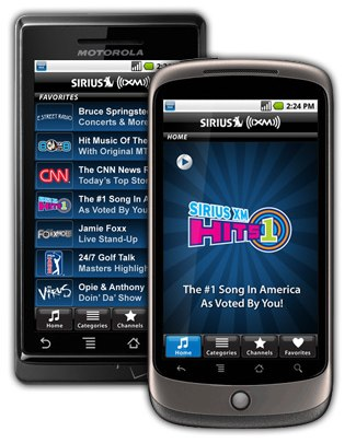 Sirius XM Android app hits the Market