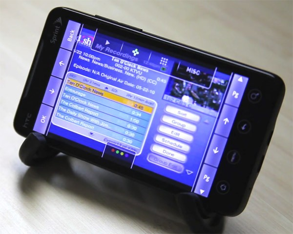 SlingPlayer Mobile for Android teased on an EVO 4G