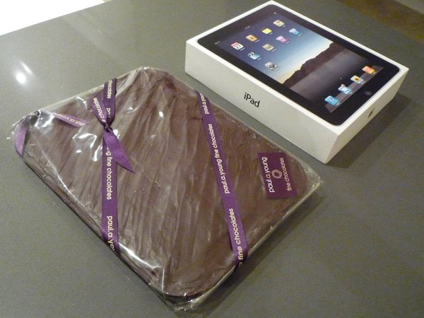 iPad Frozen into a Slab of Chocolate