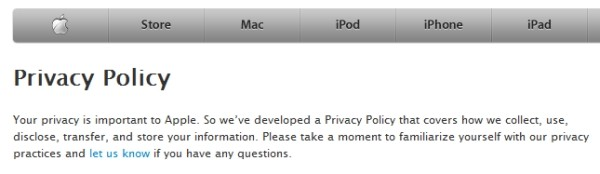 iOS 4 privacy policy updated: Apple can anonymously collect location data, you can take away iAds' cookies 6-21-10-appleprivacy