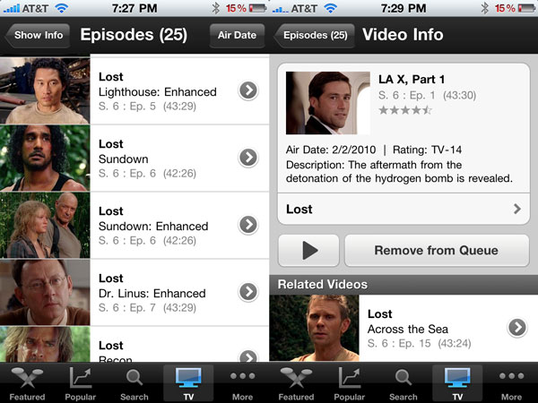 Hulu Plus on iPhone