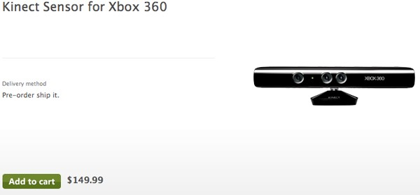 Kinect for Xbox 360 Available for Pre-order Now