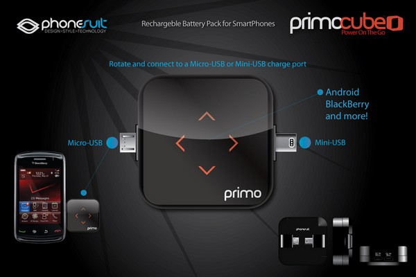 Primo Battery Cube brings extra life to your mini or microUSB devices, is not actually a cube