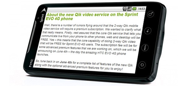 Qik details its premium service tier, free until July 15