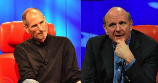 Jobs: The PC is a truck. Ballmer: There's a reason they're called 'Mac' trucks.