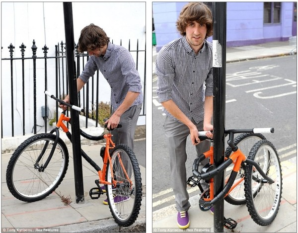 Bendable bicycle wraps itself around a pole – by design