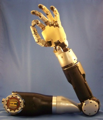 DARPA-funded prosthetic arm reaches phase three, would-be cyborgs celebrate