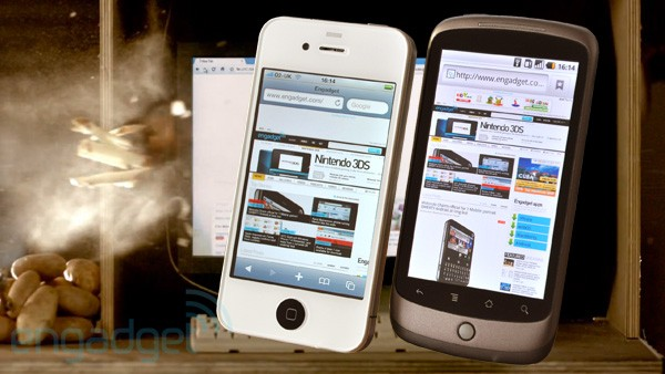Android 2.2 vs IOS 4 Browser showdown.