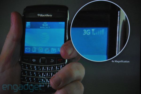 Blackberry Bold 9700, Engadget