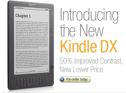 E Ink Pearl Display On Updated Kindle DX