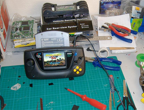 Modded Game Gear becomes portable home for N64 (video)