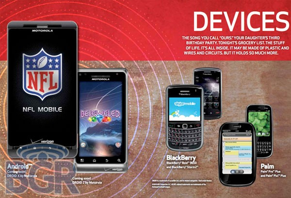 Verizon catalog reveals Motorola Droid 2, new dumbphones