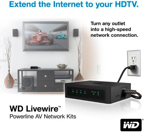 Wd livewire powerline av network kit