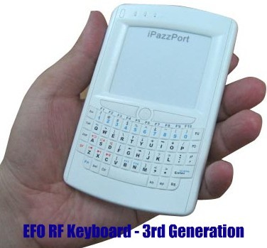 EFO iPazzport Keyboard looks like a BlackBerry, calls your HTPC not your boss