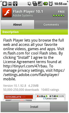 flash 10 1 download android