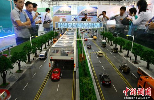 hugebus202082010 China to build ginormous buses that cars can drive under