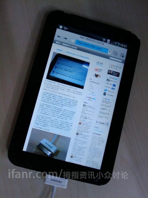 Samsung Galaxy Tab P1000 gets wild with Android 2.2