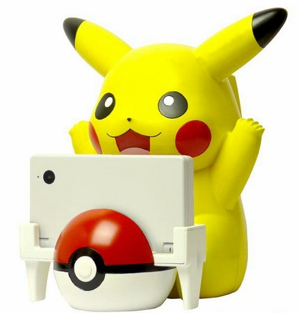 Pikachu is really, really excited to charge your Nintendo DSi for you