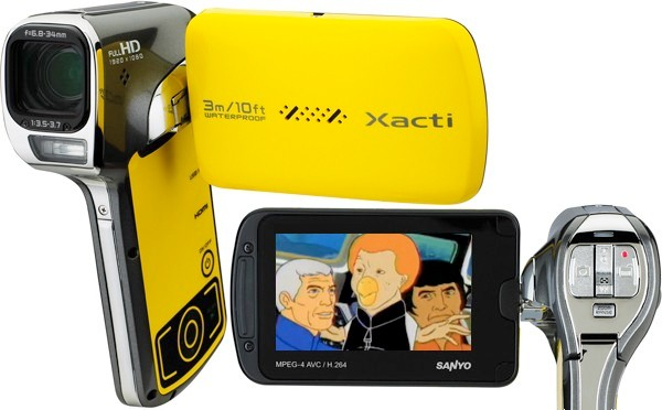 Sanyo VPC-CA102YL waterproof HD camcorder