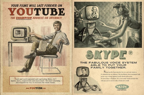 Youtube and Skype Ads From The 60s