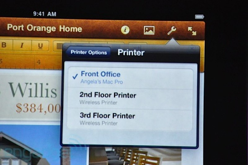 IPad Printing in IOS4.2