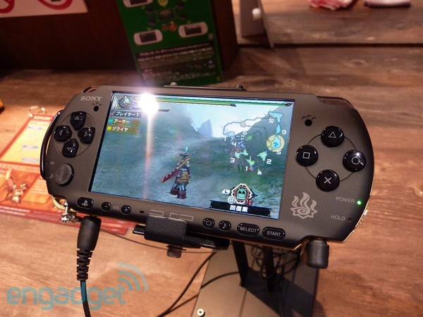 Pictures of Sony's new technicolor PSPs, and Monster Hunter 3 PSP preview