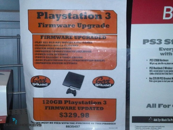 Best Buy Charges $30 for PS3 Firmware Update