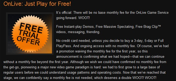 OnLive ditches monthly fees altogether, makes the world a freer place