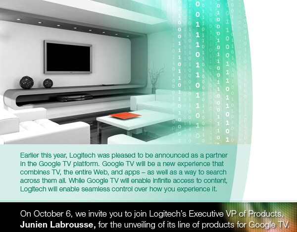 Logitech's Google TV offering to also handle HD video conferencing, challenge Cisco's upcoming solution?