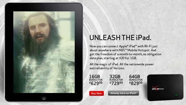 unleash the ipad on verizon wireless iPad now on sale from Verizon Wireless and AT&T