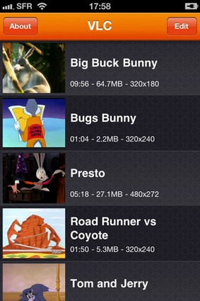 VLC gets downsized to fit on the iPhone and iPod touch, now playing in the App Store