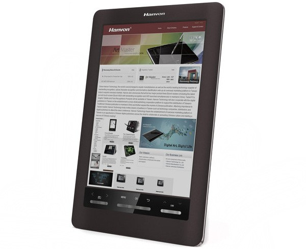 Hanvon to be first with color E Ink reader, sizes it at 10 inches, makes it a touchscreen
