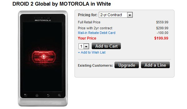 Motorola Droid 2 Global now available at Verizon for $199