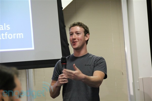 Zuckerberg: more than one billion people using Facebook actively each month.