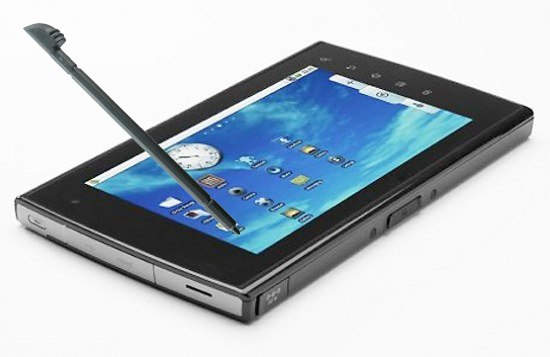 N-Trig DuoSense Android tablet