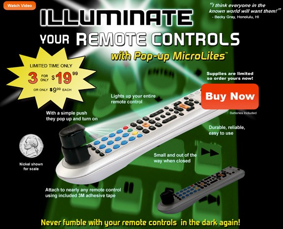 Pop-up MicroLite turns your janky remote into a well-lit, even jankier remote (video)