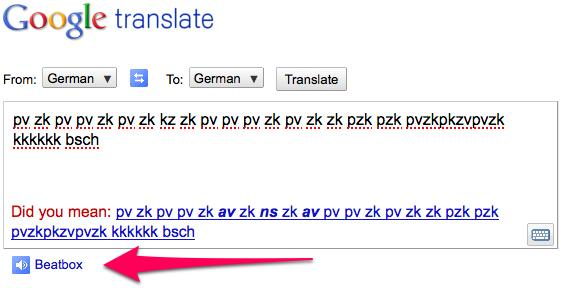 how to make google translate beatbox. Google Translate gets Doug E.