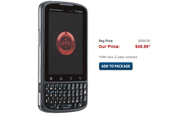 Droid Pro Dropped to $50 on Best Buy, $20 on Amazon