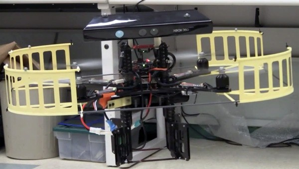 Kinect turned into a quadrocopter radar (video)