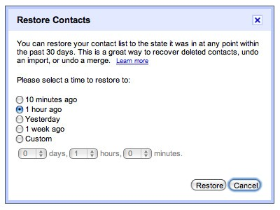 Gmail can now restore deleted contacts, still can't mend broken friendships