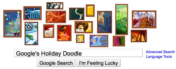 Google's 2010 holiday doodle: its 'most ambitious one yet'
