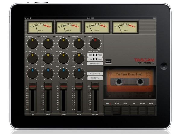 Tascam Portastudio for iPad could make you a four-track superstar all over again