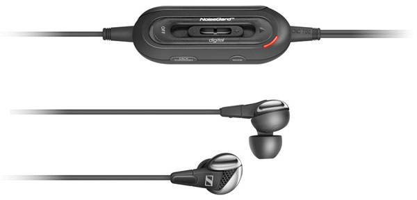 Sennheiser earbuds noise cancelling device