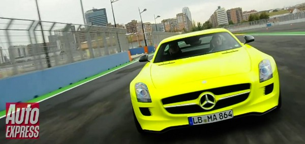 Mercedes electric SLS AMG E-Cell previewed: neck-snapping and retina-searing