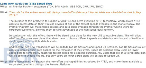 AT&T Looking at Tiered Data Pricing and Speeds for Upcoming LTE Service