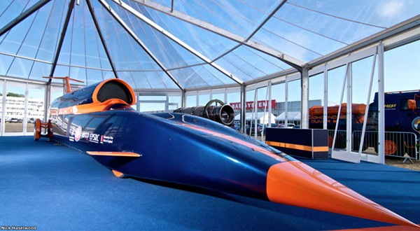 Bloodhound SuperSonic Car begins construction: 1,000mph on Intel Atom processors -- and a jet engine (video)