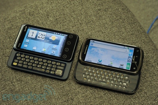 HTC EVO Shift 4G vs. Motorola Cliq 2... fight!