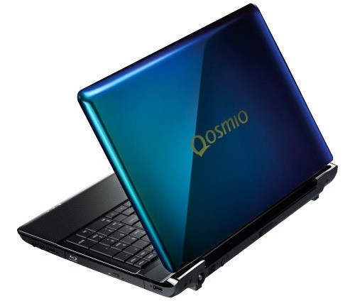 Toshiba Dynabook Qosmio T750 laptop has a display that changes color on both sides
